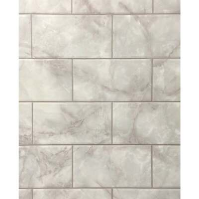DPI 4 Ft. x 8 Ft. x 1/8 In. Gray Marble Kingsbridge Wall Tile