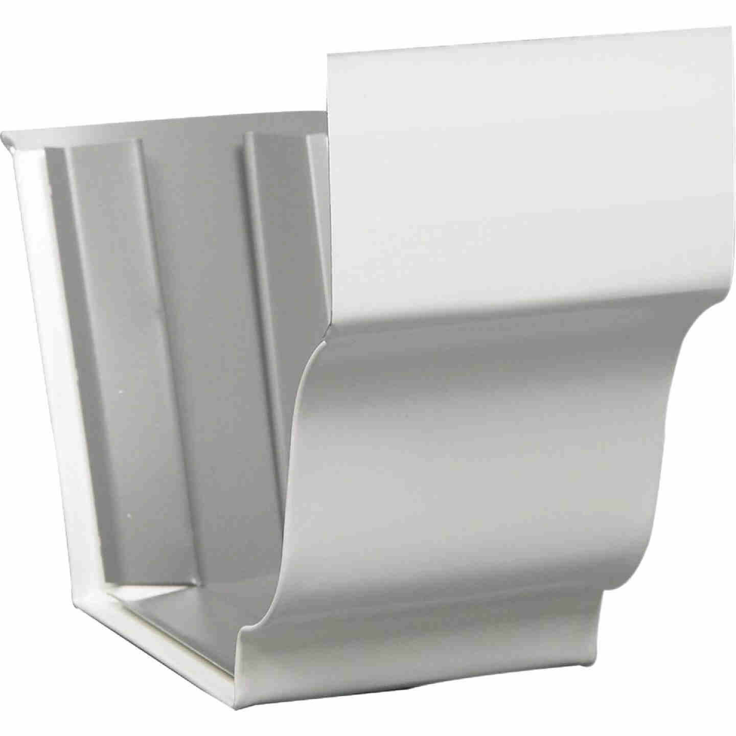 Amerimax 4 In. Galvanized White Slip-Joint Gutter Connector Image 1