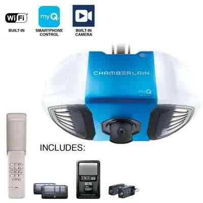 Chamberlain B-4545 3/4 HP myQ Secure View Smart Belt Drive Garage Door Opener with WiFi and Camera