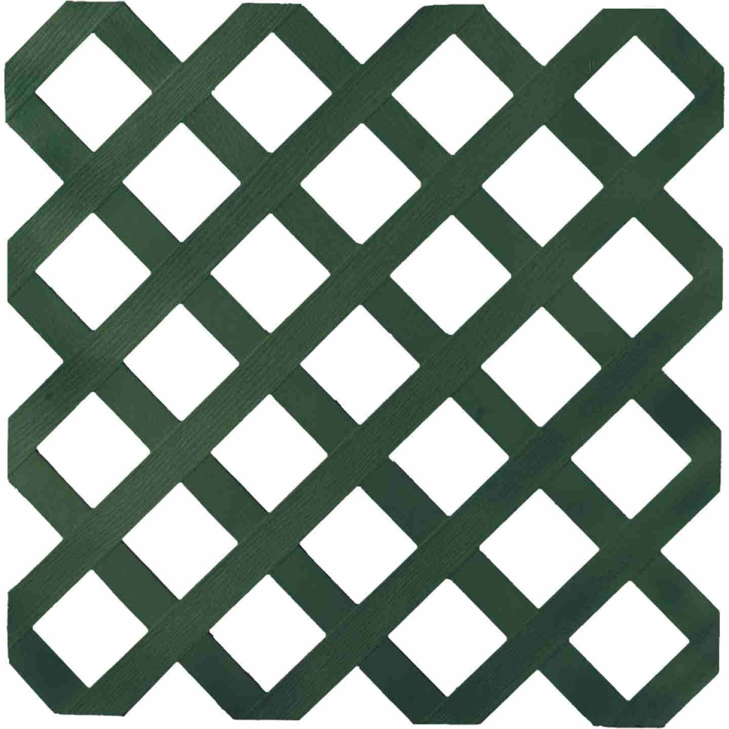 Dimensions 4 Ft. W x 8 Ft. L x 1/8 In. Thick Dark Green Vinyl Lattice Panel Image 1