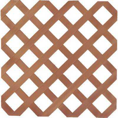 Dimensions 4 Ft. W x 8 Ft. L x 1/8 In. Thick Redwood Vinyl Lattice Panel