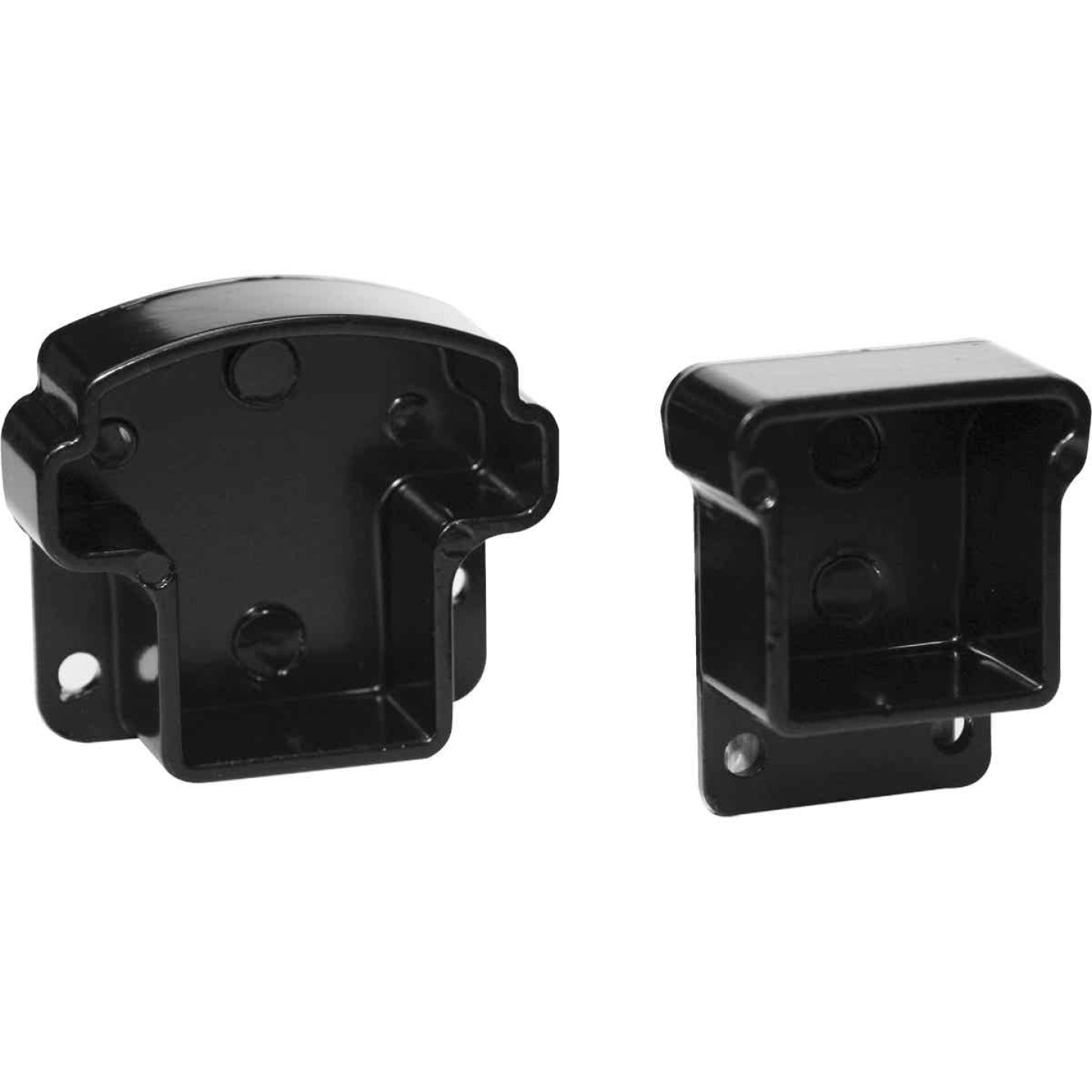 Gilpin Summit Black Aluminum Railing Mounting Rail Bracket (2-Pack) Image 1