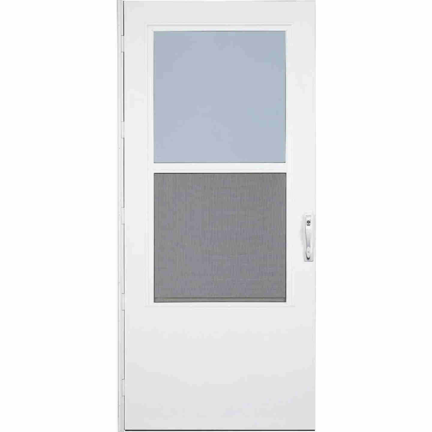 Larson Life-Core DuraTech 36 In. W x 80 In. H x 1 In. Thick White Self-Storing Storm Door Image 1