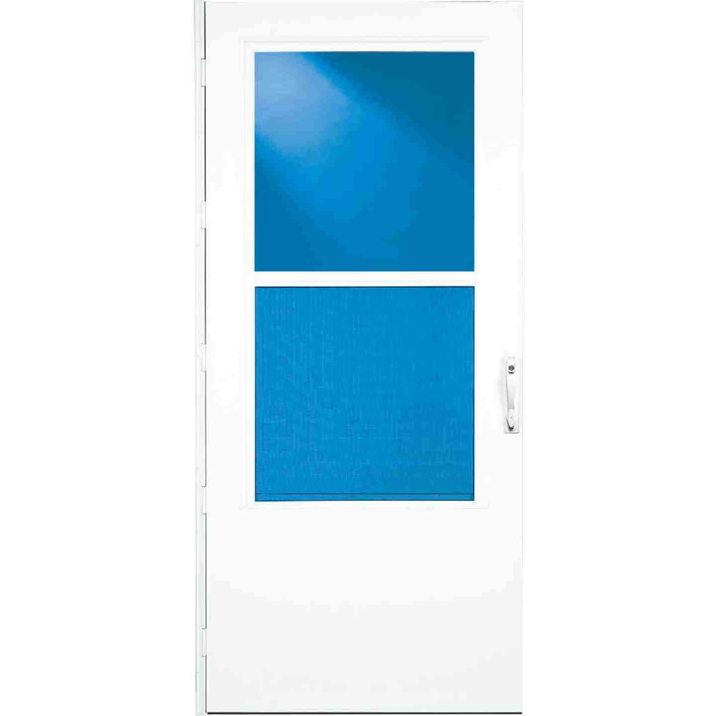 Larson Life-Core DuraTech 36 In. W x 80 In. H x 1 In. Thick White Self-Storing Storm Door Image 2