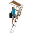 Werner Universal 8 Ft. to 10 Ft. 22-1/2 In. x 54 In. Aluminum Attic Stairs, 375 Lb. Load Image 6