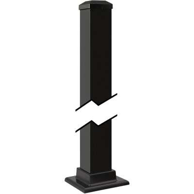 Gilpin Summit Series 2-1/2 In. x 2-1/2 In. x 43 In. Black Aluminum Newel Post