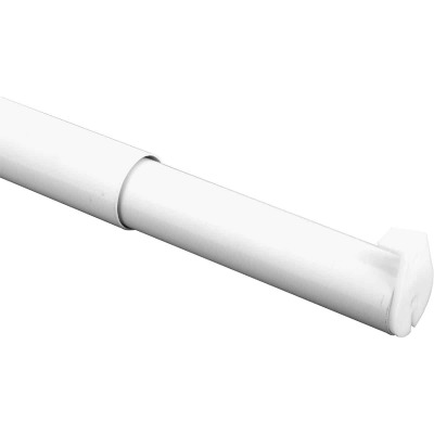 John Sterling Closet-Pro 18 In. to 30 In. x 1-1/4 In. Extra Heavy-Duty Adjustable Closet Rod, White