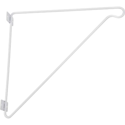 ClosetMaid SuperSlide 11-1/4 In. H. x 12 In. D. Closet Shelf & Rod Bracket, White