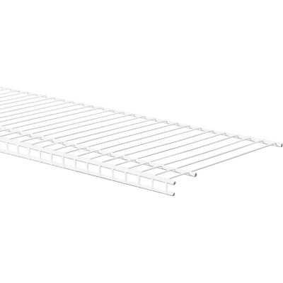 ClosetMaid SuperSlide 8 Ft. W. x 12 In. D. Ventilated Closet Shelf, White