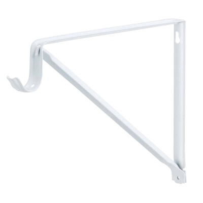 John Sterling Closet-Pro 10 In. H. x 11 In. D. Fixed Closet Shelf & Rod Bracket, White