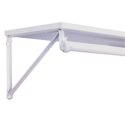 John Sterling Closet-Pro 10-3/4 In. H. x 12 In. D. Closet Shelf & Rod Bracket, White