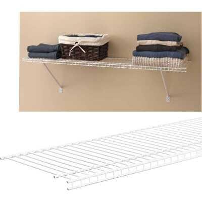ClosetMaid SuperSlide 6 Ft. W. x 12 In. D. Ventilated Closet Shelf, White