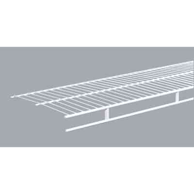 ClosetMaid 6 Ft. W. x 12 In. D. Ventilated Wire Shelf & Rod, White