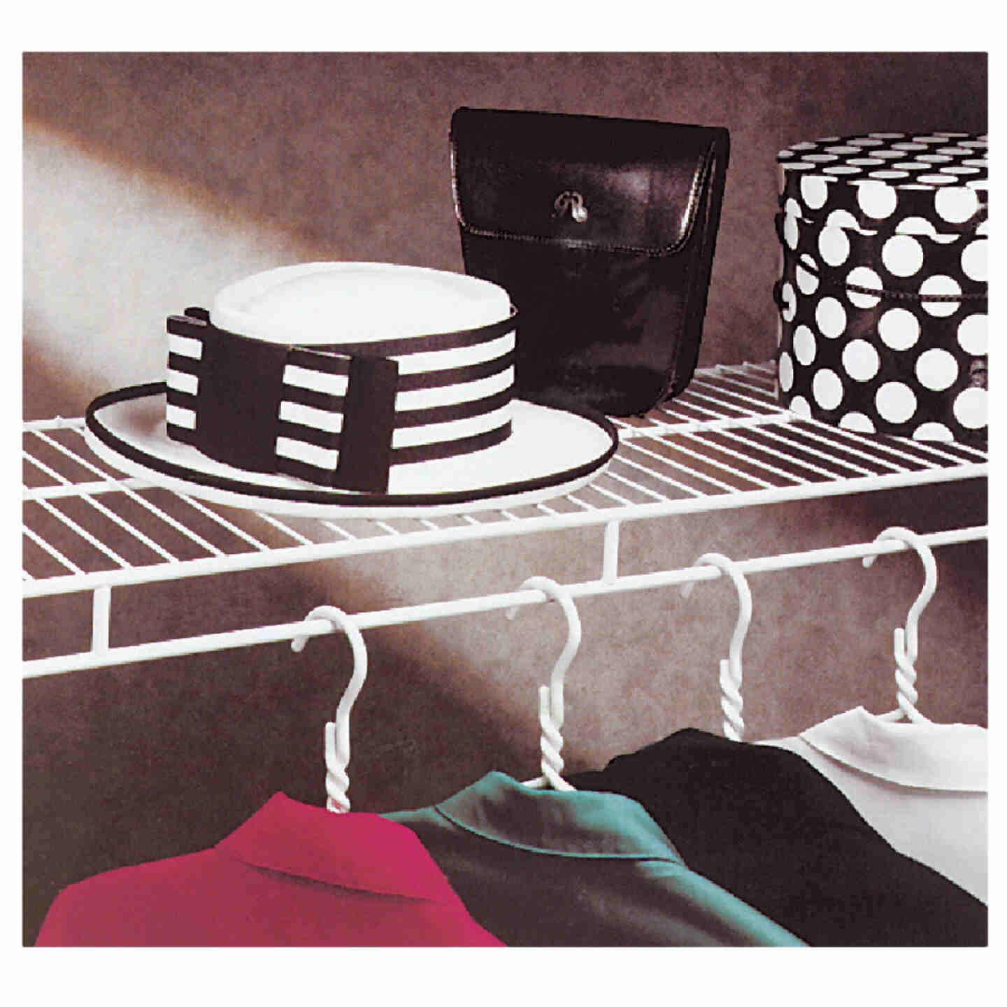 ClosetMaid 6 Ft. W. x 12 In. D. Ventilated Wire Shelf & Rod, White Image 2