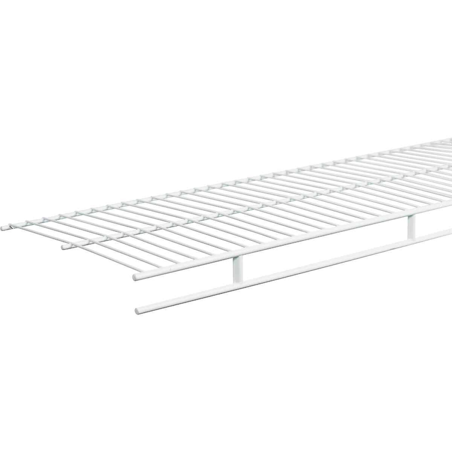 ClosetMaid 4 Ft. W. x 12 In. D. Ventilated Wire Shelf & Rod, White Image 1