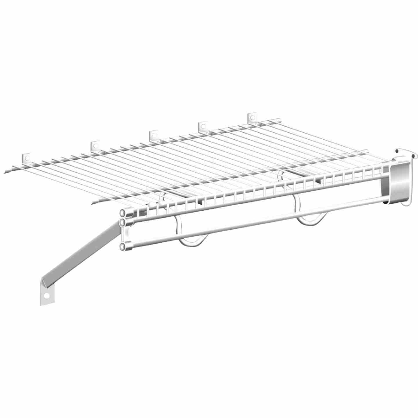 ClosetMaid TotalSlide 12 Ft. W. x 16 In. D. Contractor Pack Ventilated Wire Shelf & Rod, White (6-Pack) Image 2