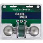 Steel Pro Brushed Nickel Hall & Closet Door Knob Image 2