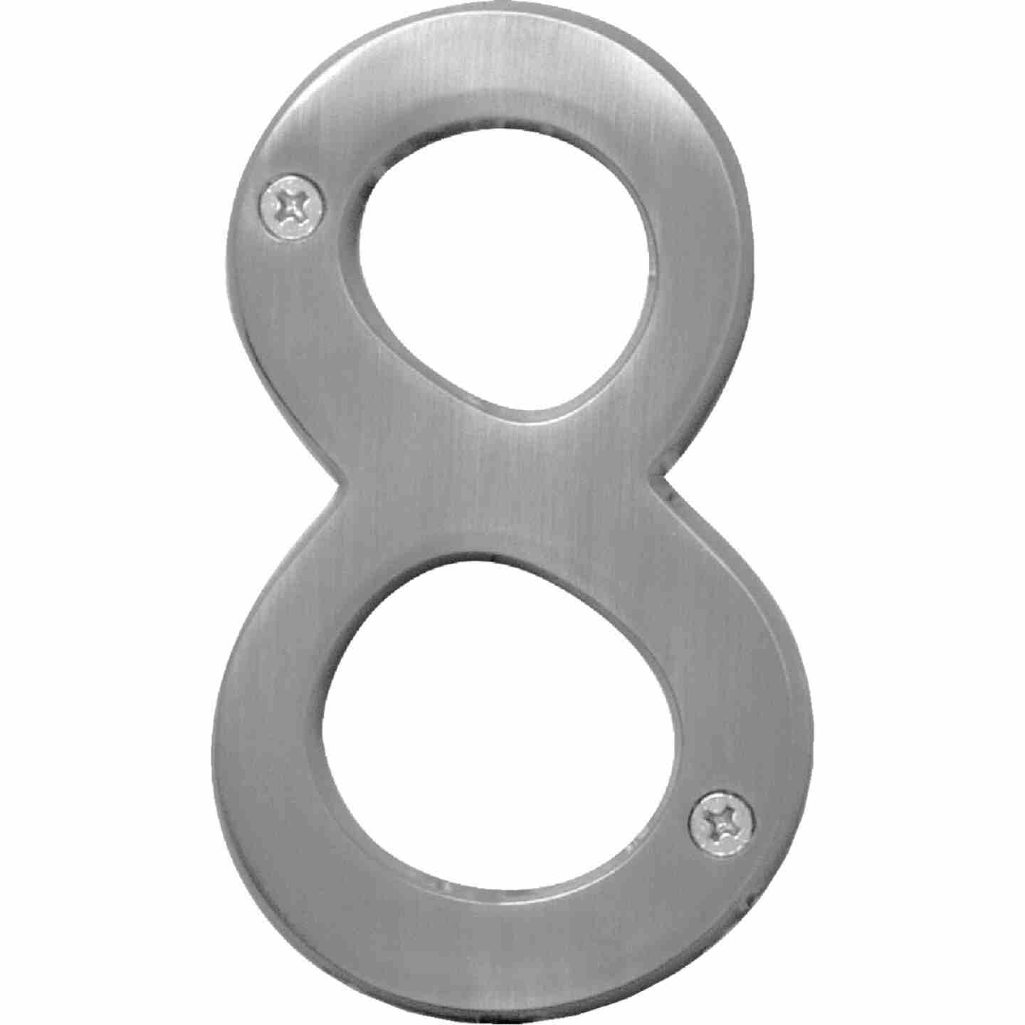 Hy-Ko Prestige Series 4 In. Satin Nickel House Number Eight Image 1