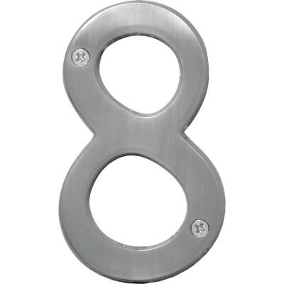 Hy-Ko Prestige Series 4 In. Satin Nickel House Number Eight