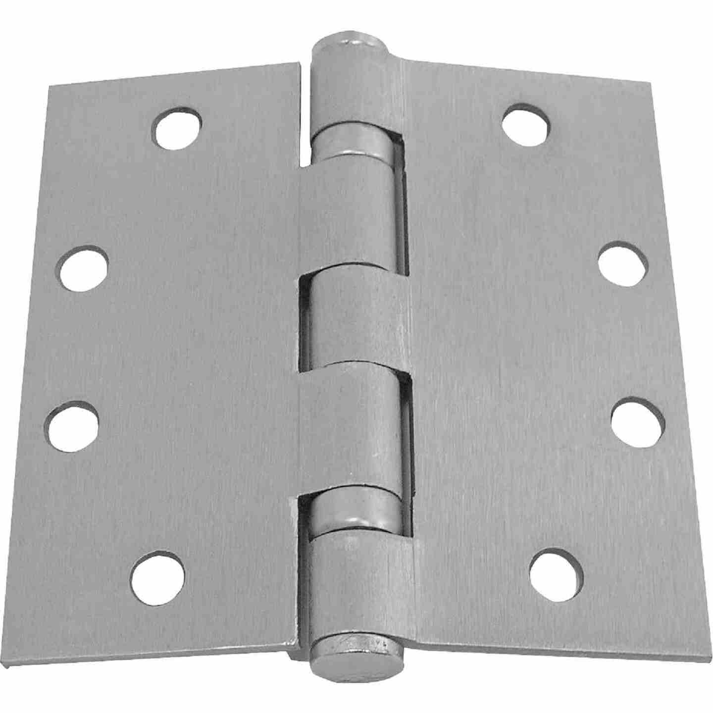 Tell 4-1/2 In. Square Prime Coat Commercial Plain Bearing Door Hinge (3-Pack) Image 1
