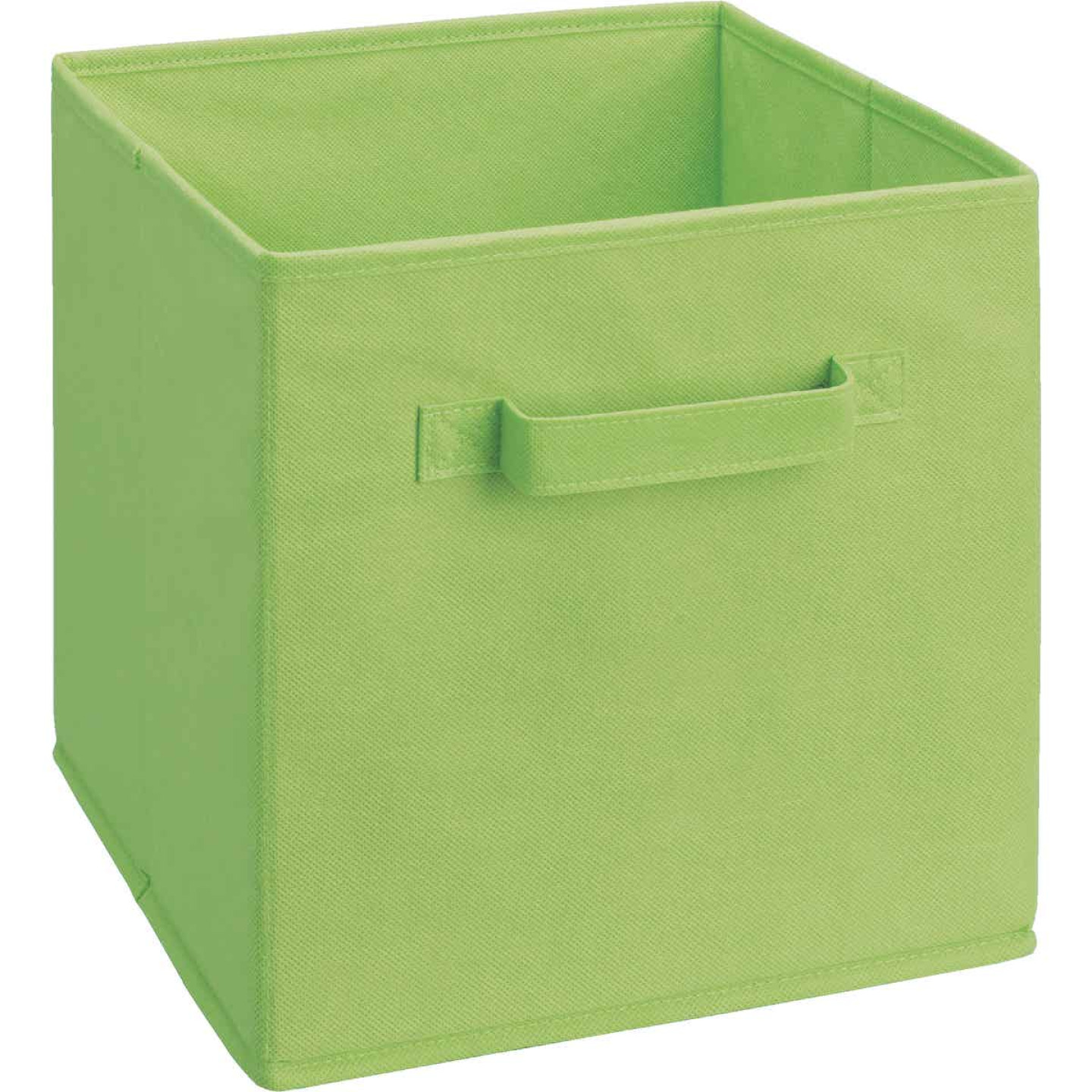 ClosetMaid Cubeicals 10.5 In. W. x 11 In. H. Lime Green Fabric Drawer Image 1