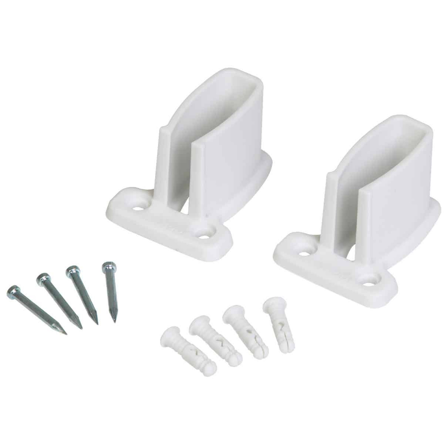 Closetmaid TotalSlide White Wire Shelf End Bracket (4-Count) Image 1
