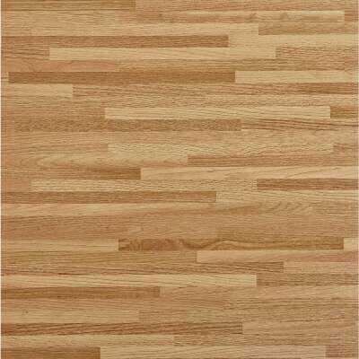 Home Impressions Maple Strip 12 In. x 12 In. Vinyl Floor Tile (45 Sq. Ft./Box)