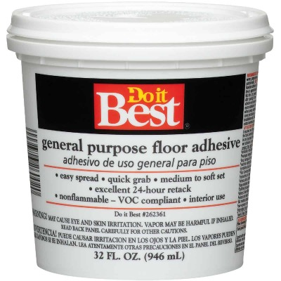 Do it Best Beige General-Purpose Floor Adhesive (Quart)