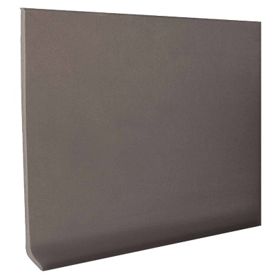 Roppe 2-1/2 In. x 4 Ft. Dark Gray Vinyl Dryback Wall Cove Base