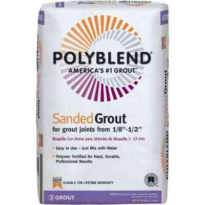 Custom Building Products Polyblend 25 Lb. Linen Sanded Tile Grout