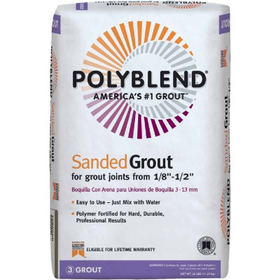 Custom Building Products Polyblend 25 Lb. Light Smoke Sanded Tile Grout