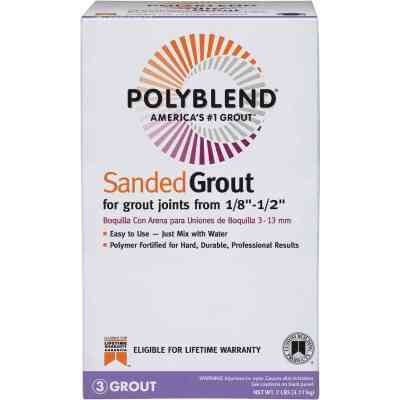 Custom Building Products Polyblend 7 Lb. Fawn Sanded Tile Grout