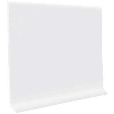 Roppe 2-1/2 In. x 4 Ft. Snow White Vinyl Dryback Wall Cove Base