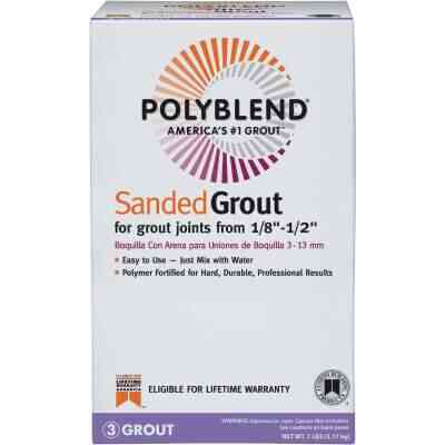 Custom Building Products Polyblend 7 Lb. Snow White Sanded Tile Grout