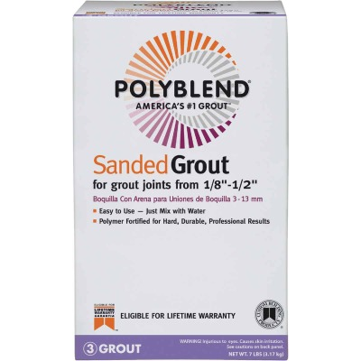 Custom Building Products Polyblend  7 Lb. Tobacco Brown Sanded Tile Grout