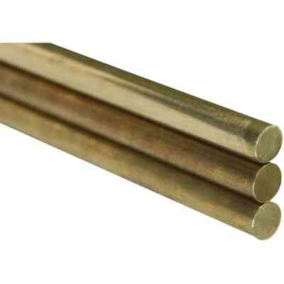 K&S 1/4 In. x 36 In. Solid Brass Rod