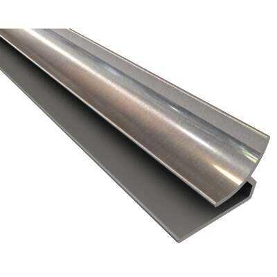 Fasade 18 In. Thermoplastic Inside Corner Backsplash Trim, Brushed Aluminum