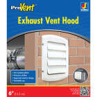 Dundas Jafine ProVent 6 In. White Louvered Dryer Vent Hood Image 1