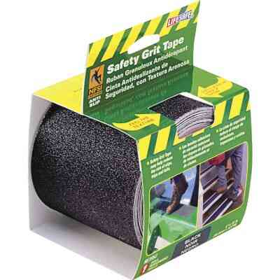 LIFESAFE 4 In.x 15 Ft. Black Anti-Slip Walk Safety Tape