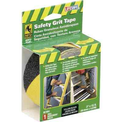 LIFESAFE 2 In.x 15 Ft. Yellow/Black Anti-Slip Walk Safety Tape