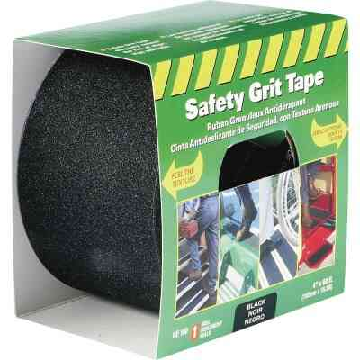 LIFESAFE 4 In.x 60 Ft. Black Anti-Slip Walk Safety Tape