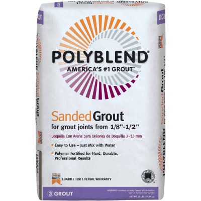 Custom Building Products Polyblend  25 Lb. Summer Wheat Sanded Tile Grout