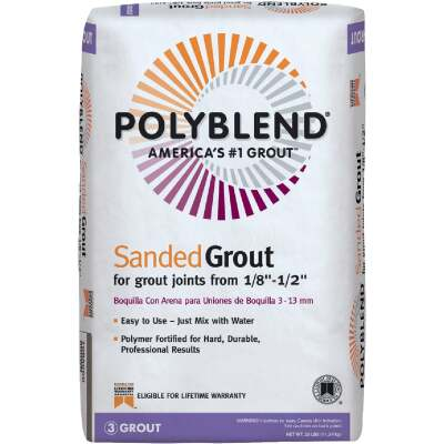 Custom Building Products Polyblend 25 Lb. Natural Gray Sanded Tile Grout