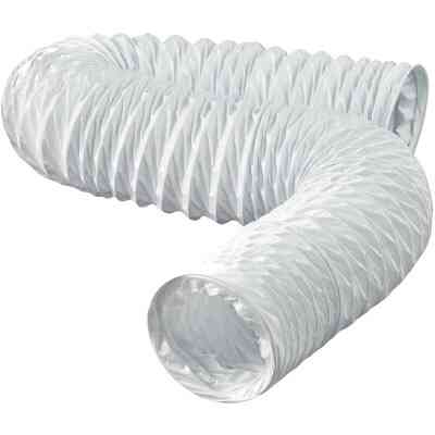 Dundas Jafine 3 In. Dia x 8 Ft. L White Vinyl Flexible Ducting