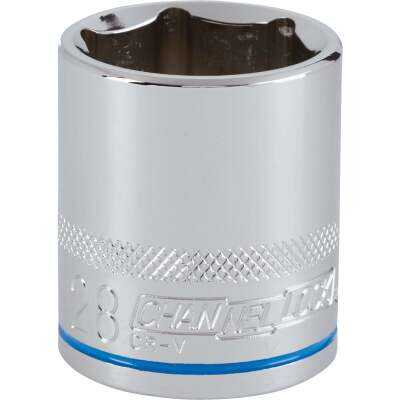 Channellock 1/2 In. Drive 28 mm 6-Point Shallow Metric Socket