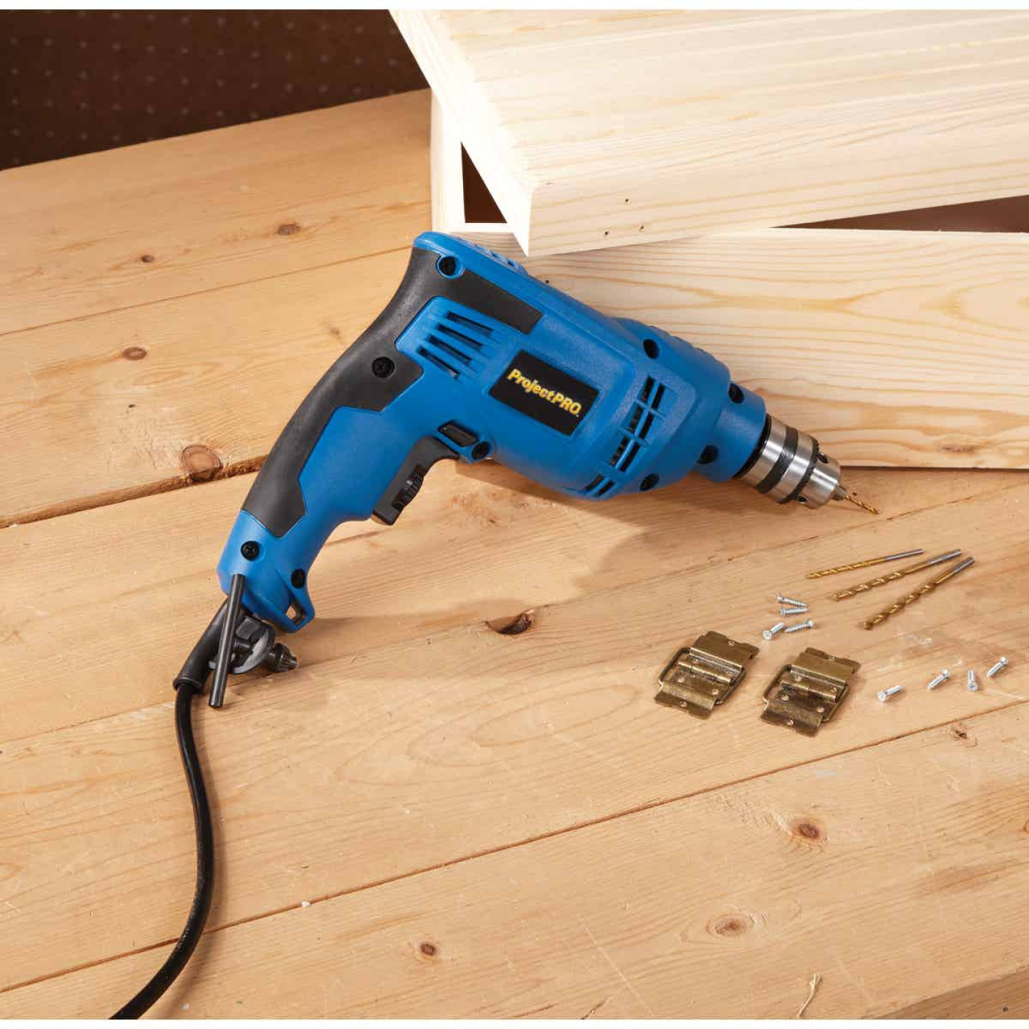 Project Pro 3/8 In. 4.6-Amp Keyed Electric Drill Image 2