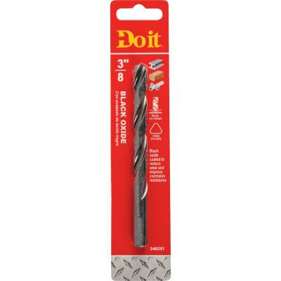 Do it 3/8 In. Black Oxide Drill Bit