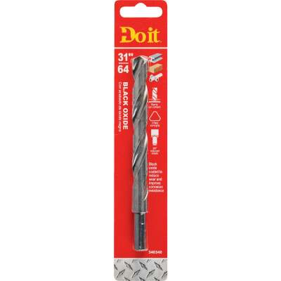 Do it 31/64 In. Black Oxide Drill Bit