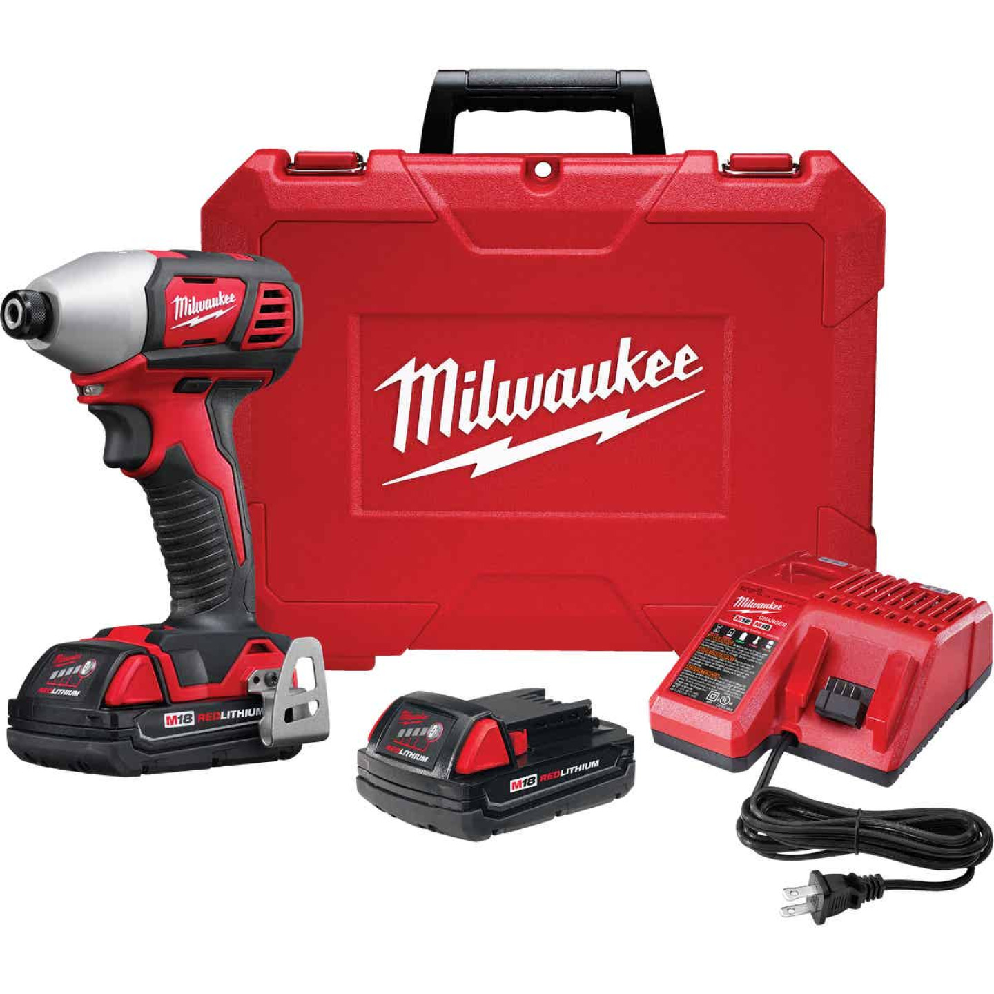 Milwaukee M18 18 Volt Lithium-Ion 2-Speed 1/4 In. Hex Cordless Impact Driver Kit (with 2 Compact Batteries) Image 5