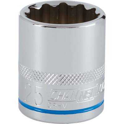 Channellock 1/2 In. Drive 25 mm 12-Point Shallow Metric Socket